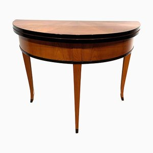 Antique Biedermeier Ash Veneer Console Table