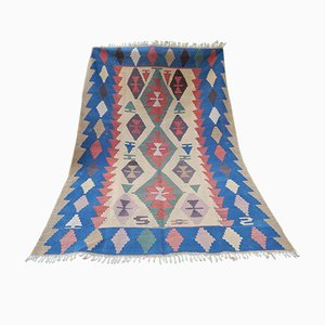 Oriental Multi Color Kilim Rug, 1970s