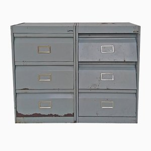Mid-Century Industrial Locker Cabinets from ATAL, Set of 2