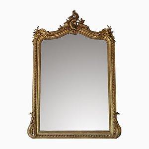 Specchio vittoriano antico dorato
