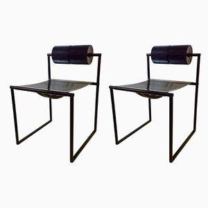Esszimmerstühle von Mario Botta für Alias, 1982, 2er Set