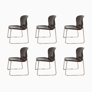 SM 400 K Stackable Dining Chairs by Gerd Lange for Drabert, 1980s, Set of 6