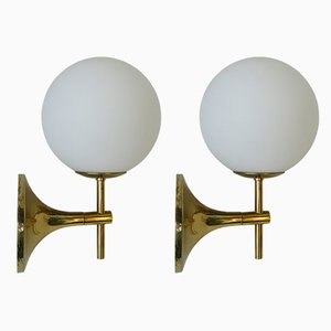 Brass Sconces by Max Bill for Temde, 1970s, Set of 2