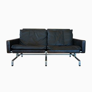 Black Leather Sofa by Poul Kjærholm for E. Kold Christensen, 1960s