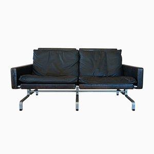Black Leather Sofa by Poul Kjærholm for E. Kold Christensen, 1960s