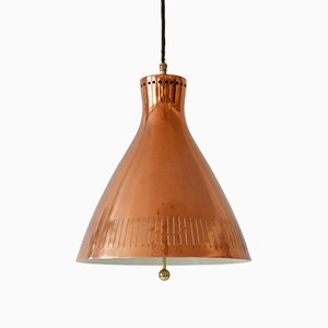 Scandinavian Copper Pendant Lamp, 1960s