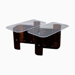 Tables d'Appoint Vintage en Lucite, Set de 2