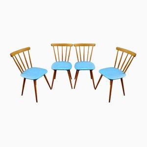 Sillas de comedor escandinavas, años 60. Juego de 4