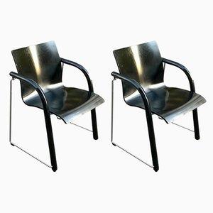 Chaises de Bureau Modèle S320 par Ulrich Boehme pour Thonet, années 80, Set de 2
