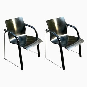 German Model S320 Desk Chairs by Ulrich Boehme for Thonet, 1980s, Set of 2