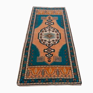 Vintage Turkish Geometric Oushak Rug, 1970s