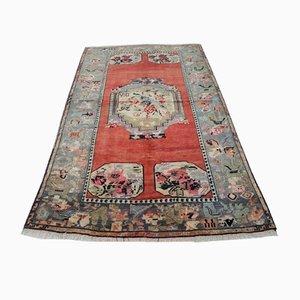 Pastellfarbener türkischer Vintage Teppich, 1970er