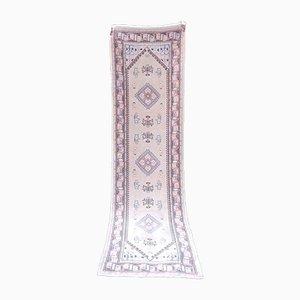 Tappeto da corridoio Oushak tradizionale, anni '70