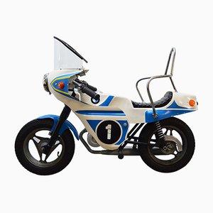 Motocicleta BMW vintage decorativa, años 70