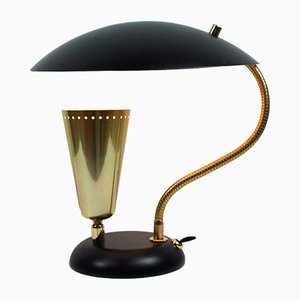Brass & Metal Table Lamp, 1950s