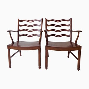 Armchairs by Ole Wanscher for Fritz Hansen, 1940s, Set of 2