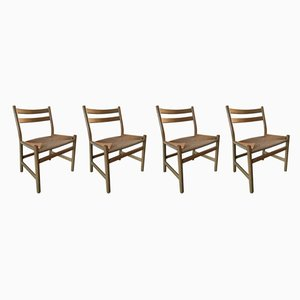 Oak CH47 Dining Chairs by Hans J. Wegner for Carl Hansen & Søn, 1970s, Set of 4