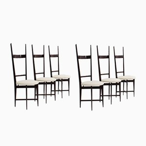Mid-Century Mahogany Dining Chairs by Santambrogio e De Berti, Set of 6
