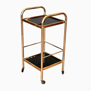 French Art Deco Brass Bar Cart, 1940s