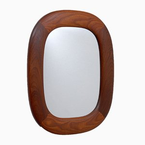 Swedish Teak Mirror from AB Glas & Trä, 1960s