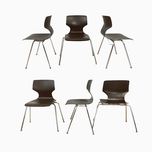 Stackable Dining Chairs from Flötotto, 1960s, Set of 6