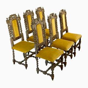 Chaises de Salle à Manger Antiques, France, Set de 6