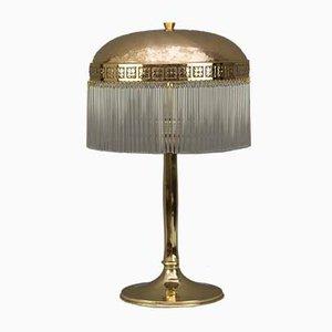Antike gehämmerte Tischlampe