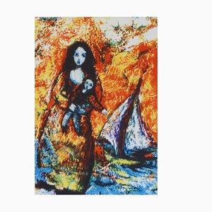 Gerahmtes Mid-Century Bild von Raya Sorkine für Raya Sorkine
