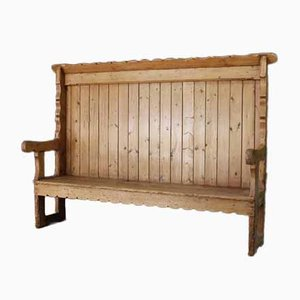 Antique Rustic Pine Bench