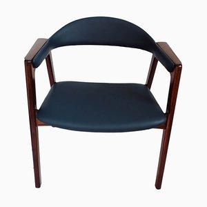 Chaise de Bureau Mid-Century en Teck