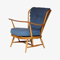 Vintage Blue Lounge Chair by Lucian Ercolani for Ercol