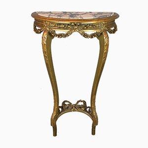 Antiker vergoldeter französischer Konsolentisch