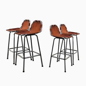 Mid-Century Bar Stools by Charlotte Perriand, Set of 4