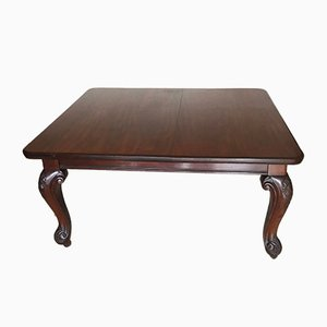 Antique Chippendale Ball and Claw Mahogany Extendable Dining Table with Leaves