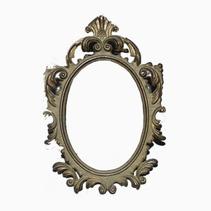 Antique Brass Mirror Frame, 1940s
