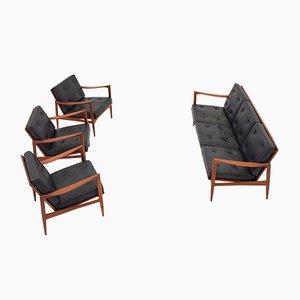 Skandinavische Sitzgruppe von Ib Kofod Larsen für OPE, 1960er, 4er Set