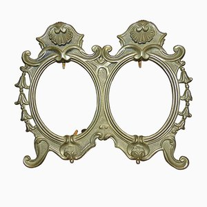 Brass double Mirror Frame, 1940s