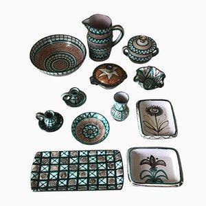 Keramikservice von Robert Picault, 1960er, 12er Set