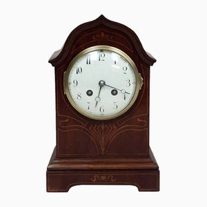 Antique French Art Nouveau Mahogany Clock from Samuel Marti