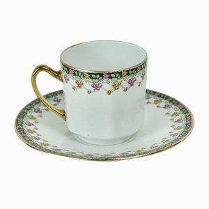 Tazzina da caffè in porcellana di Limoges, anni '40