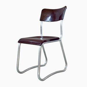 Bakelite & Aluminium Bauhaus Chair, 1950s