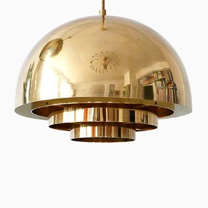 German Brass Pendant Lamp from Vereinigte Werkstätten Collection, 1960s