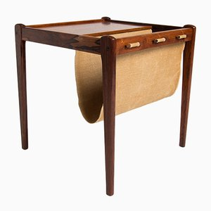 Rosewood Side Table & Magazine Rack, 1960s