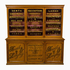 Mobiletto da farmacia vittoriano antico