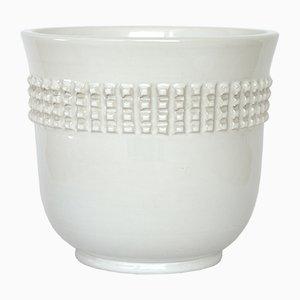 Vaso in ceramica bianca di Pol Chambost, anni '60