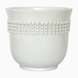 White Earthenware Pot by Pol Chambost, 1960s