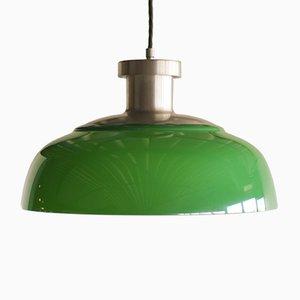 Lámpara colgante modelo 4017 en verde de Achille Castiglioni de Kartell, años 50