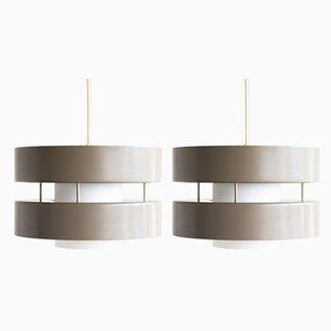 Dutch Architectural Pendant Lamps, 1960s, Set of 2