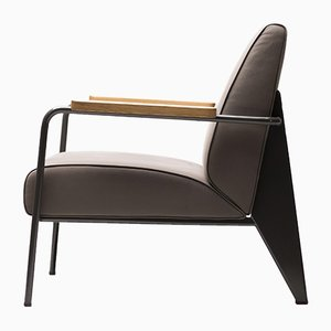 French Lounge Chair by Jean Prouvé for Vitra, 1950s