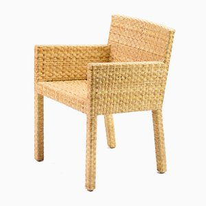 Vintage Cane Armchair by Paola Navone, 1990s